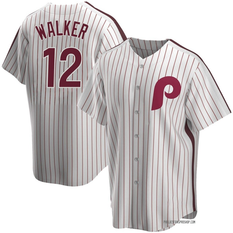Men's Neil Walker Philadelphia Phillies Replica White Home Cooperstown Collection Jersey
