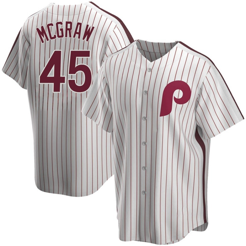 Men's Tug McGraw Philadelphia Phillies Replica White Home Cooperstown Collection Jersey