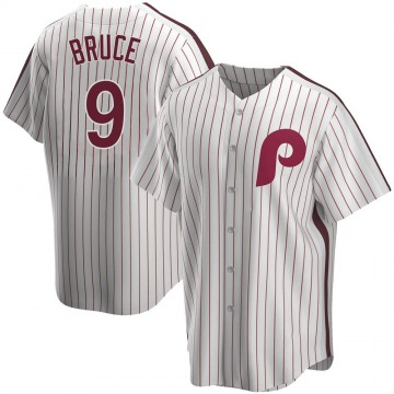 Youth Jay Bruce Philadelphia Phillies Replica White Home Cooperstown Collection Jersey