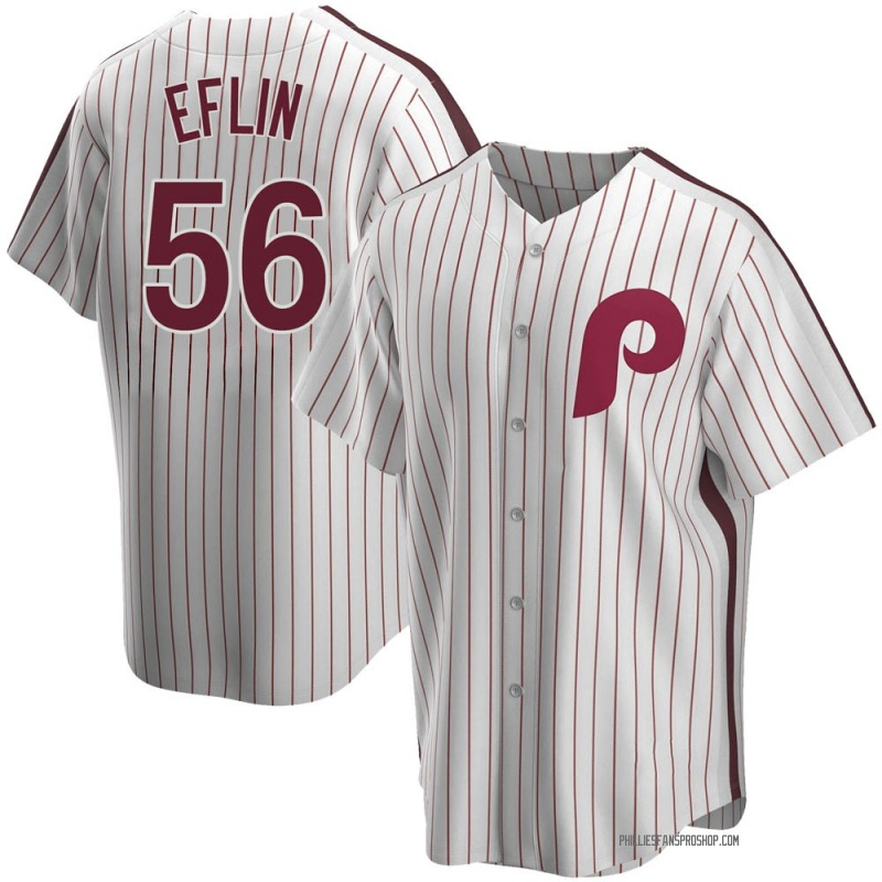 Youth Zach Eflin Philadelphia Phillies Replica White Home Cooperstown Collection Jersey