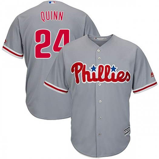 Youth Majestic Roman Quinn Philadelphia Phillies Player Authentic Gray Cool Base Road Jersey